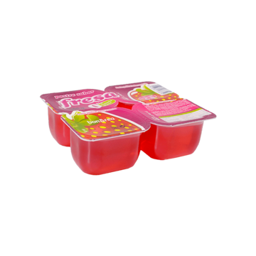 Gelatina de fresa (4x125gr)