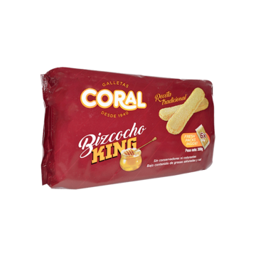 Bizcocho king coral (300gr)