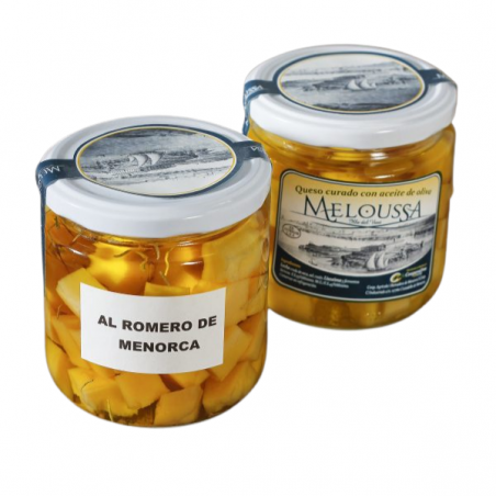 Queso en aceite de oliva al romero de Menorca Meloussa (260gr)