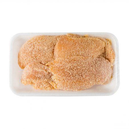 Pechuga pollo empanada de Menorca