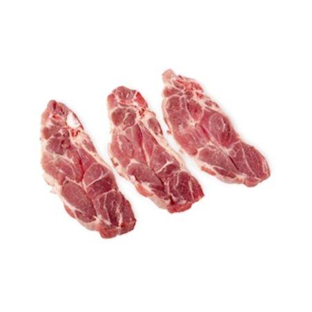 Cerdo chuletas aguja de Menorca